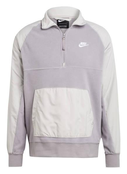 Nike Fleece-Troyer, Farbe: HELLGRAU (Bild 1)