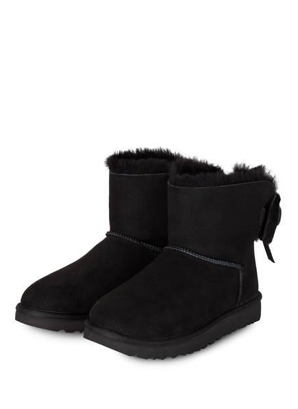 UGG Boots CLASSIC DOUBLE BOW MINI , Farbe: SCHWARZ (Bild 1)