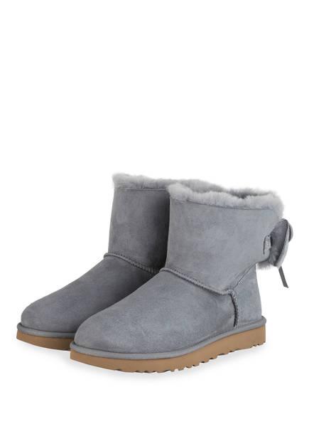 UGG Boots CLASSIC DOUBLE BOW MINI , Farbe: BLAUGRAU (Bild 1)
