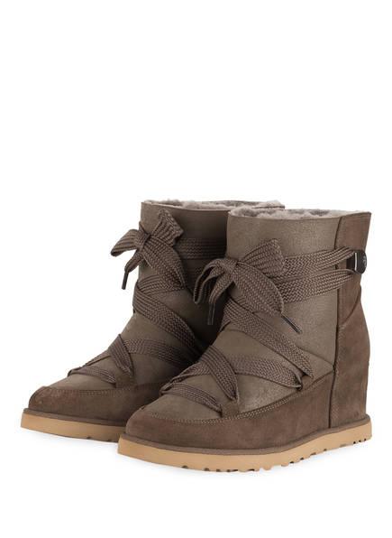 UGG Boots CLASSIC FEMME LACE-UP, Farbe: DUNKELBRAUN (Bild 1)