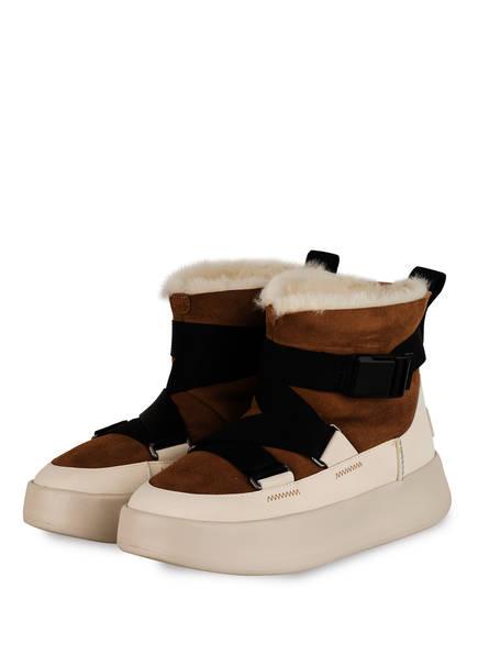 UGG Plateau-Boots CLASSIC BOOM BUCKLE, Farbe: BRAUN/ SCHWARZ (Bild 1)