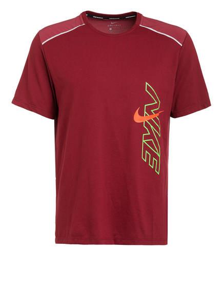 Nike Laufshirt BREATHE RISE 365, Farbe: DUNKELROT (Bild 1)