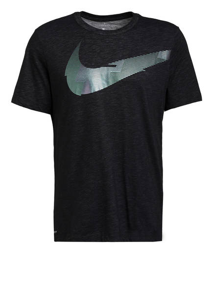 Nike T-Shirt DRI-FIT, Farbe: SCHWARZ MELIERT (Bild 1)
