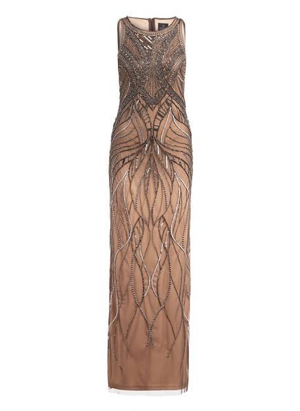 ADRIANNA PAPELL Abendkleid mit Pailletten- und Schmucksteinbesatz, Farbe: TAUPE (Bild 1)