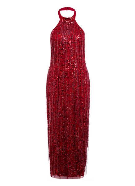 ADRIANNA PAPELL Abendkleid mit Pailletten- und Schmucksteinbesatz , Farbe: DUNKELROT (Bild 1)