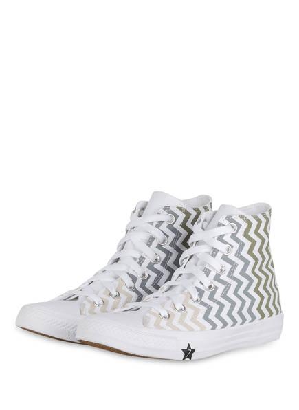 CONVERSE Hightop-Sneaker CHUCK TAYLOR ALL STAR VLTG , Farbe: WEISS/ GRÜN/ BLAU (Bild 1)