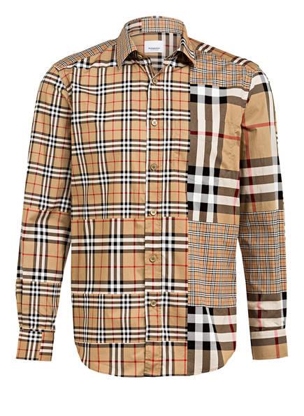 BURBERRY Hemd CHALKSTONE Regular Fit, Farbe: BEIGE/ SCHWARZ/ ROT KARIERT (Bild 1)