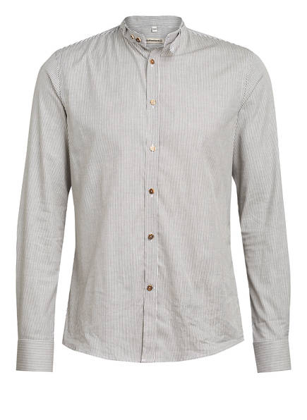 Gottseidank Trachtenhemd Lenz, Farbe: DUNKELBLAU/ WEISS GESTREIFT (Bild 1)