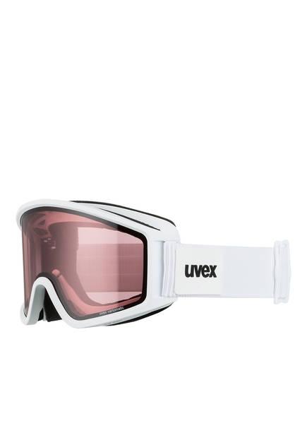 uvex Skibrille VARIOMETRIC, Farbe: WEISS MATT/ PINK (Bild 1)