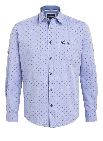 KRÜGER Trachtenhemd VALENTIN Perfect Fit, Farbe: HELLBLAU (Bild 1)