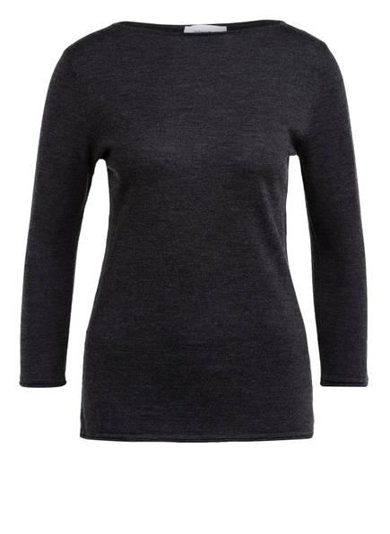 DARLING HARBOUR Pullover aus Merinowolle mit 3/4-Arm, Farbe: DUNKELGRAU (Bild 1)