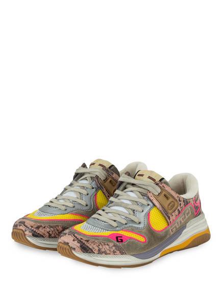 GUCCI Sneaker ULTRAPACE , Farbe: GRAU/ ROSA/ GELB (Bild 1)