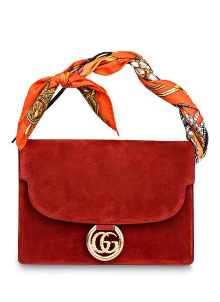 GUCCI Handtasche GG RING, Farbe: NEW CHERRY RED (Bild 1)
