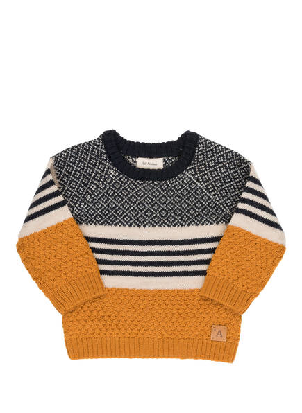 Lil' Atelier Pullover, Farbe: CREME/ BLAU/ GELB  (Bild 1)