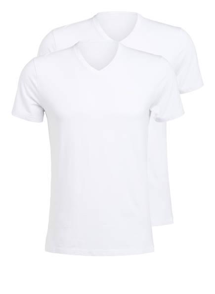 JOOP! 2er-Pack V-Shirts, Farbe: WEISS (Bild 1)