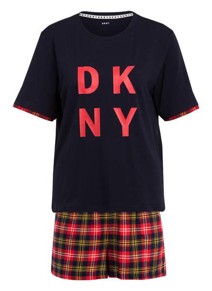 DKNY Shorty-Schlafanzug, Farbe: DUNKELBLAU/ ROT/ BLAU (Bild 1)