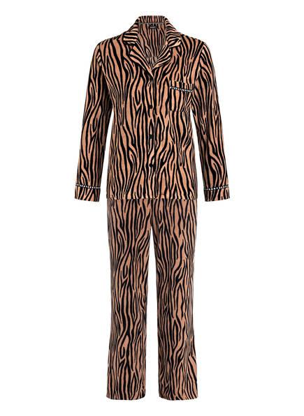 DKNY Schlafanzug, Farbe: CAMEL/ SCHWARZ (Bild 1)