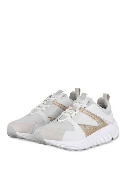 HUGO Sneaker HORIZON RUNN, Farbe: WEISS/ HELLGRAU/ GOLD (Bild 1)