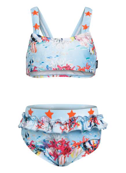 molo Bikini NAILA mit UV-Schutz 50+, Farbe: HELLBLAU/ KORALLE (Bild 1)