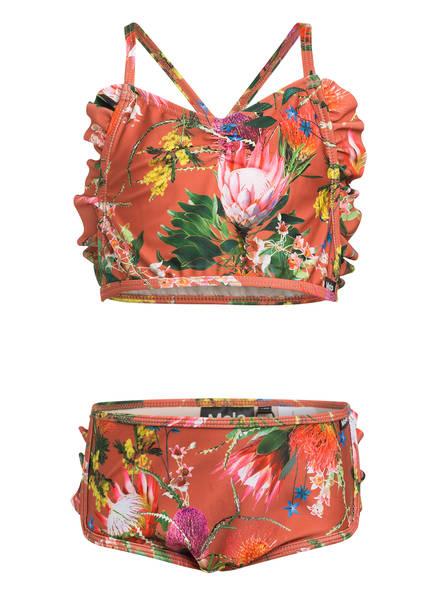 molo Bustier-Bikini NANDA mit UV-Schutz 50+, Farbe: BRAUN/ GRÜN/ GELB (Bild 1)