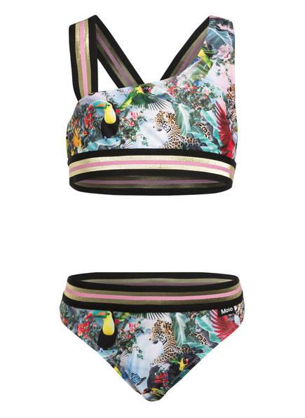 molo Bustier-Bikini NICOLA mit UV-Schutz 50+, Farbe: HELLGRÜN/ ROSA (Bild 1)