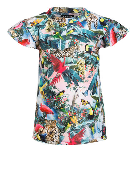 molo Bikini-Shirt NEONA mit UV-Schutz 50+, Farbe: GRÜN/ ROSA (Bild 1)