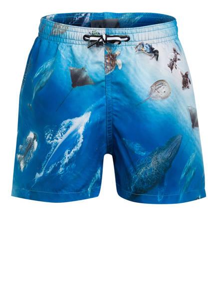 molo Badeshorts NIKO mit UV-Schutz 50+, Farbe: BLAU/ CREME (Bild 1)