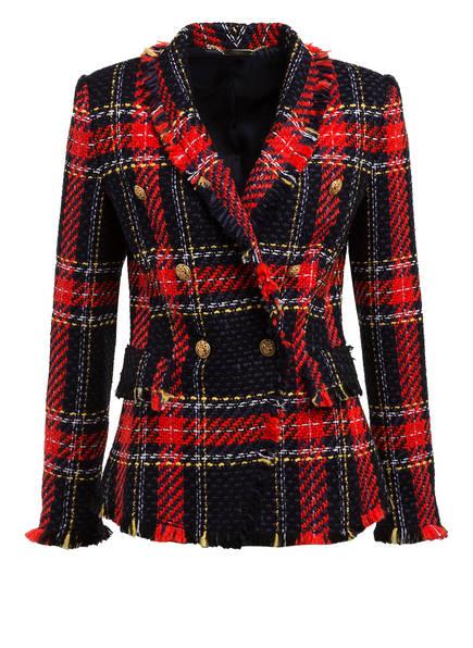 NVSCO Tweed-Blazer COLETTE , Farbe: DUNKELBLAU/ ROT/ GELB (Bild 1)