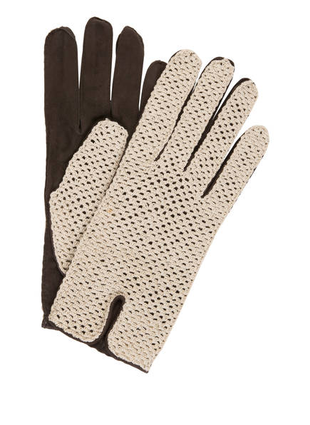 TR HandschuheWien Handschuhe , Farbe: DUNKELBRAUN/ ECRU (Bild 1)