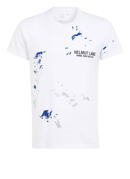 HELMUT LANG T-Shirt STANDARD PAINTER TEE, Farbe: WEISS/ BLAU/ SCHWARZ (Bild 1)