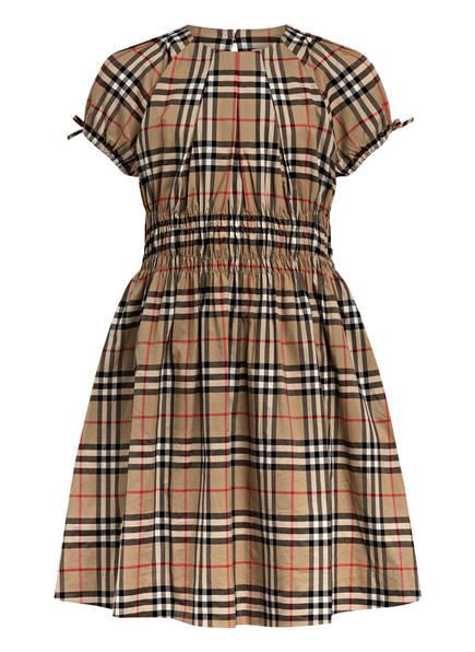 BURBERRY Kleid YOCE, Farbe: BEIGE/ ROT/ SCHWARZ KARIERT (Bild 1)