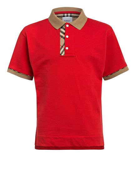 BURBERRY Piqué-Poloshirt, Farbe: ROT (Bild 1)