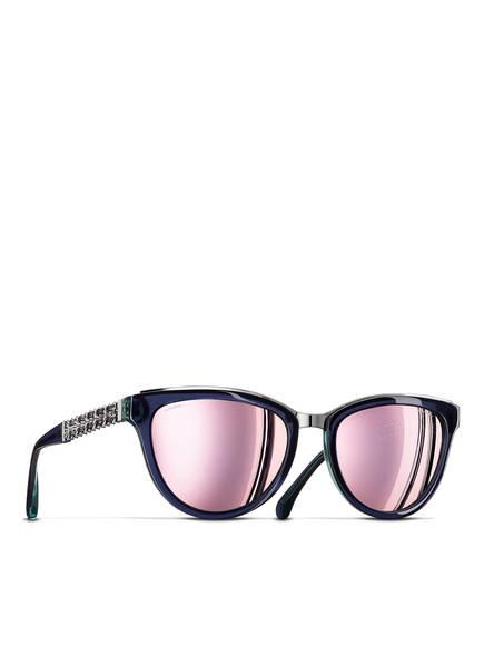 CHANEL Sunglasses Katzenaugenförmige Sonnenbrille, Farbe: BORDEAUX & VIOLETT VERLAUF (Bild 1)