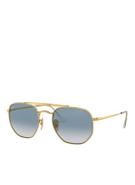 Ray-Ban Sonnenbrille RB3648 MARSHAL, Farbe: 001/3F - GOLD/ HELLBLAU (Bild 1)