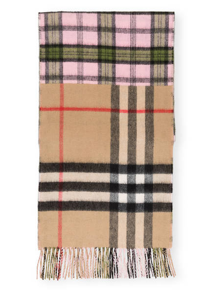 BURBERRY Cashmere-Schal, Farbe: GIANT CHECK/ CANDY PINK (Bild 1)