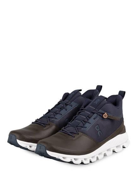 On Running Sneaker CLOUD HI, Farbe: NAVY/ BRAUN (Bild 1)