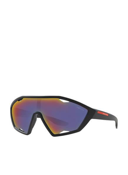 PRADA LINEA ROSSA Sonnenbrille PS 10US , Farbe: DG09Q1 - SCHWARZ MATT/ DUNKELGRAU (Bild 1)