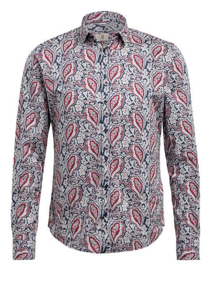 Q1 Manufaktur Hemd Extra Slim Fit , Farbe: DUNKELBLAU/ ROT/ WEISS (Bild 1)