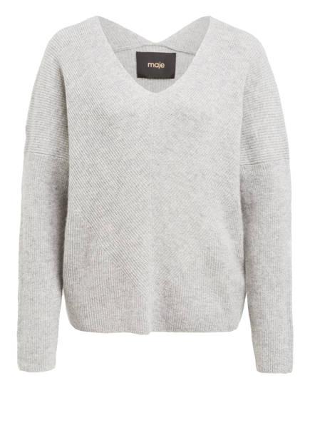 maje Cashmere-Pullover MADINA, Farbe: HELLGRAU MELIERT (Bild 1)