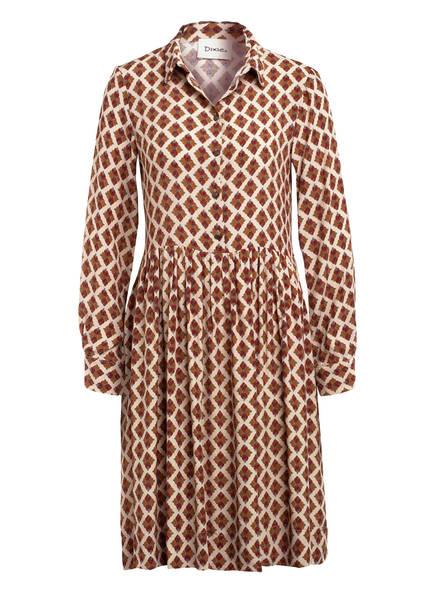 Dixie Hemdblusenkleid, Farbe: BEIGE/ BRAUN (Bild 1)