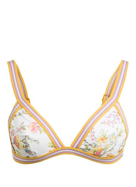 ZIMMERMANN Triangel-Bikini-Top ZINNIA , Farbe: NATUR/ GELB/ FLIEDER (Bild 1)