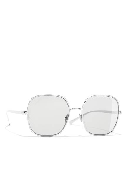 CHANEL Sunglasses Quadratische Sonnenbrille, Farbe: C12487 - SILBER/ GRAU (Bild 1)