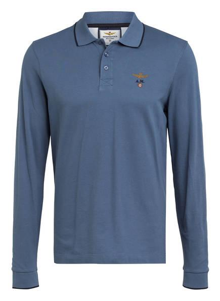 AERONAUTICA MILITARE Piqué-Poloshirt Regular Fit, Farbe: HELLBLAU (Bild 1)