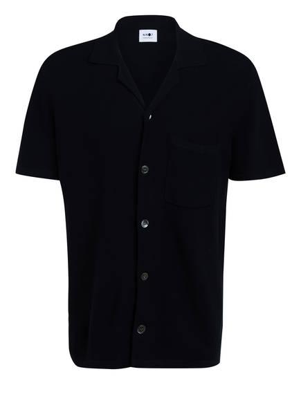 NN07 Halbarm-Strickhemd, Farbe: DUNKELBLAU (Bild 1)