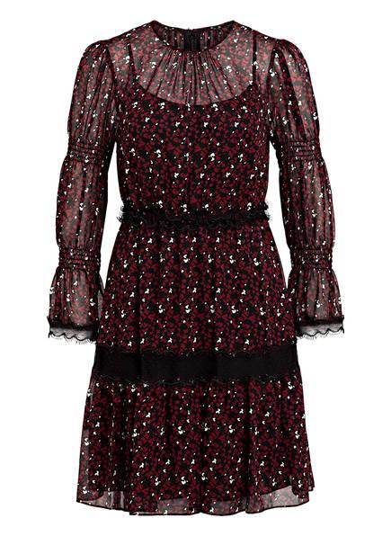 MICHAEL KORS Kleid mit Spitzenbesatz, Farbe: SCHWARZ/ DUNKELROT (Bild 1)