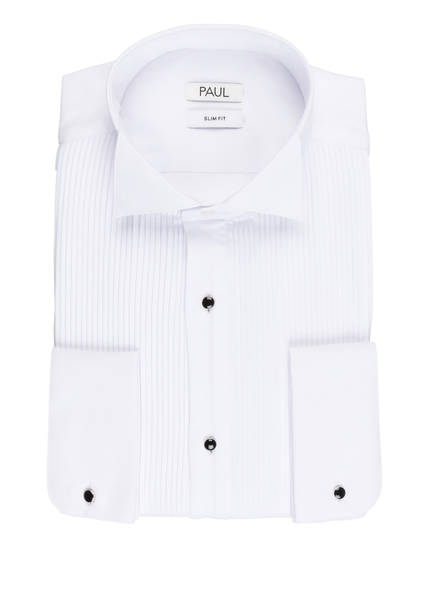 PAUL Smoking-Hemd Slim Fit, Farbe: WEISS (Bild 1)