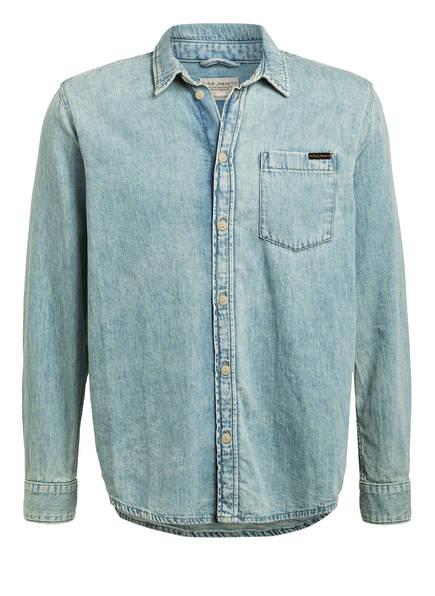 Nudie Jeans Jeanshemd ALBERT Comfort Fit, Farbe: HELLBLAU (Bild 1)