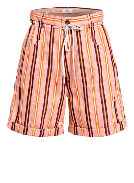 CLOSED Shorts LEXI, Farbe: LACHS/ DUNKELROT/ ORANGE GESTREIFT (Bild 1)