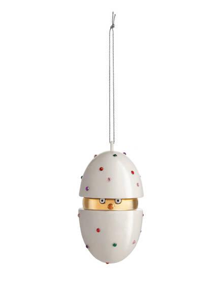 ALESSI Weihnachtskugel PIACERE PULCINO IL GRANDE, Farbe: CREME/ GOLD (Bild 1)