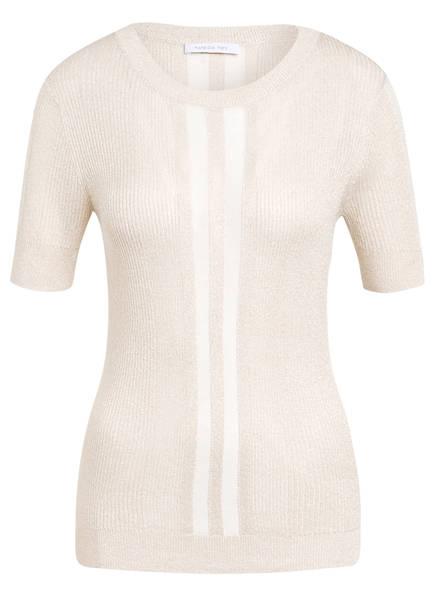 PATRIZIA PEPE Strickshirt mit Glitzergarn, Farbe: CREME (Bild 1)